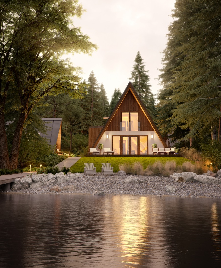 A-frame houses: homes for those who (can) calculate - katus.eu