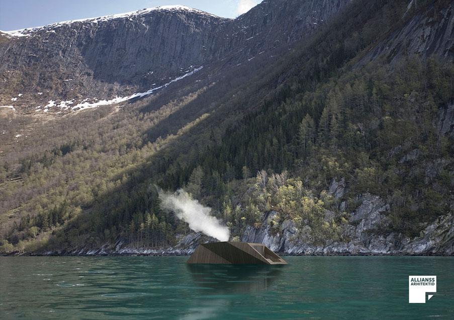 Floating Sauna - katus eu