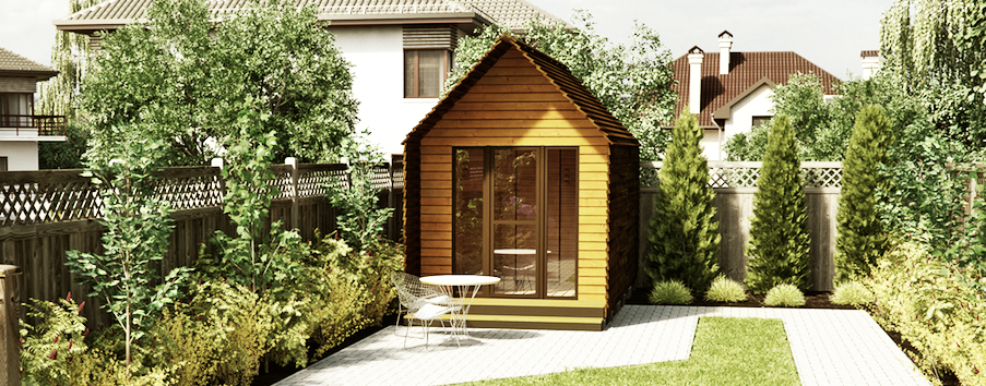 prefab home office outside leili is compact home office suitable for both urban and suburban neighborhoods as well the countryside due to its simple construction home office